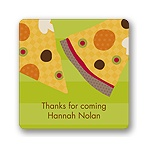 Slice of the Party -- Kids Birthday Favor Stickers