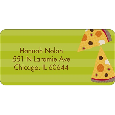 Slice of the Party Address Label
