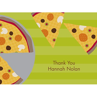 Slice of the Party Thank You Card