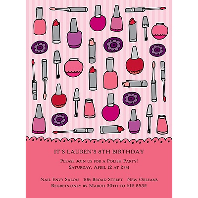 Makeover Birthday Invitation