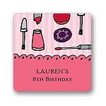 Makeover -- Kids Birthday Favor Stickers