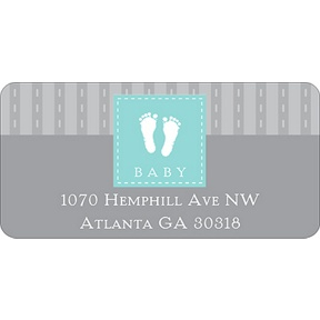 Foot Prints -- Baby Address Labels