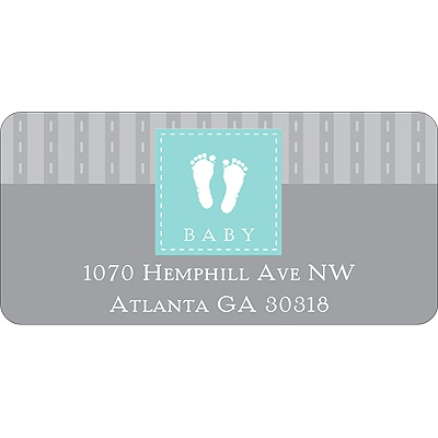 Foot Prints Baby Address Labels