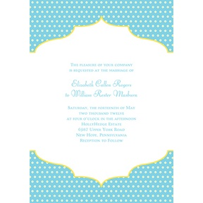 Dotted Frame -- Contemporary Wedding Invitation