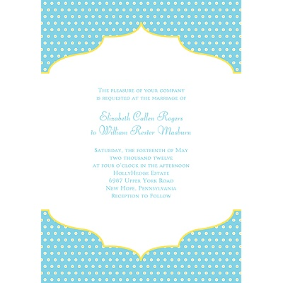 Dotted Frame Contemporary Wedding Invitation