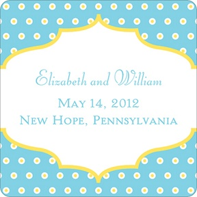 Dotted Frame -- Wedding Favor Stickers
