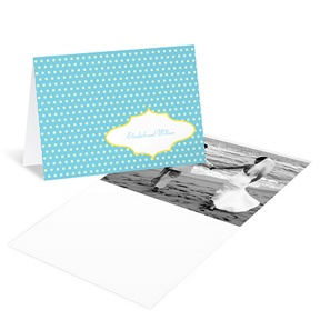 Dotted Frame -- Wedding Photo Thank You Card