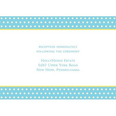 Dotted Frame Wedding Reception Card