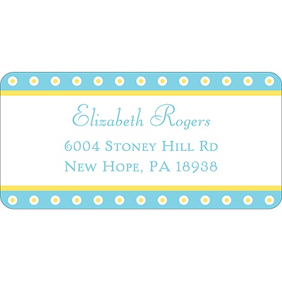 Dotted Frame Wedding Address Label
