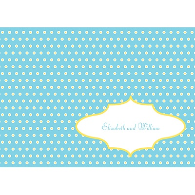 Dotted Frame Wedding Thank You Card