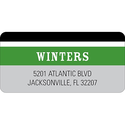 Contemporary Frames in Green -- Wedding Address Label
