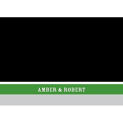 Contemporary Frames in Green Wedding Thank You Card