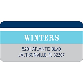 Contemporary Frames in Blue -- Wedding Address Label
