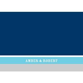Contemporary Frames in Blue -- Wedding Thank You Card