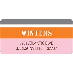 Contemporary Frames in Pink -- Wedding Address Label