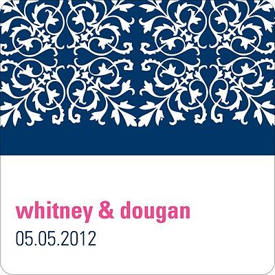 Memorable Motif Wedding Favor Stickers