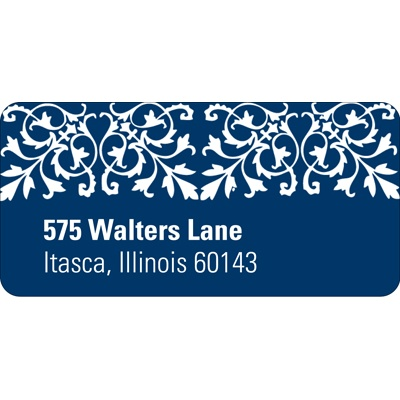 Memorable Motif Wedding Address Label