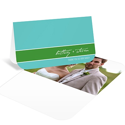 Simply Inviting -- Wedding Photo Thank You Card