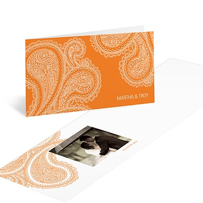 Paisley Perfection Wedding Photo Thank You Card