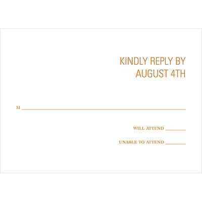 Paisley Perfection Wedding Response Card