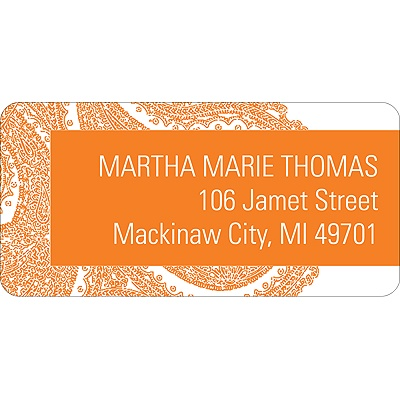 Paisley Perfection Wedding Address Label