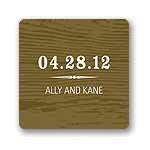 Engraved Memories -- Brown Wedding Favor Tag