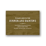 Engraved Memories -- Brown Wedding Reception Card