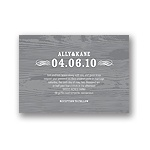 Engraved Memories -- Wood Grain Wedding Invitation