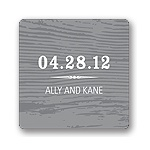 Engraved Memories -- Wedding Favor Stickers