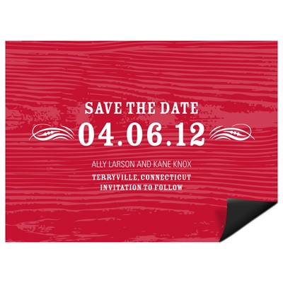 Rustic Reminder -- Save the Date Magnet