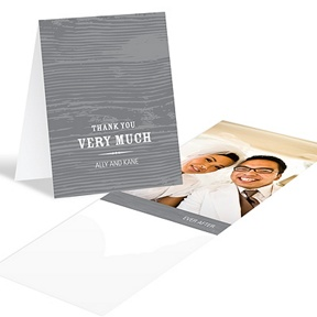 Engraved Memories -- Wedding Photo Thank You Card