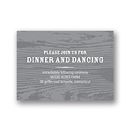 Engraved Memories -- Wedding Reception Card