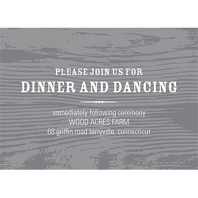 Engraved Memories Wedding Reception Card