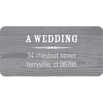 Engraved Memories Wedding Address Label