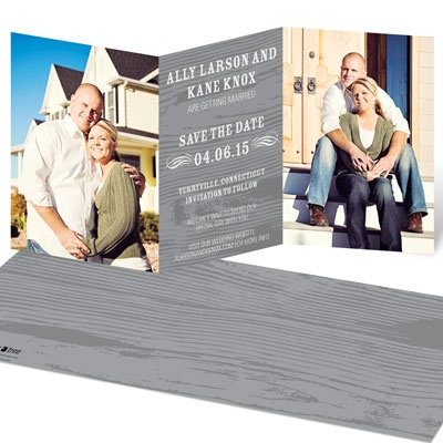 Rustic Reminder Save The Date Cards