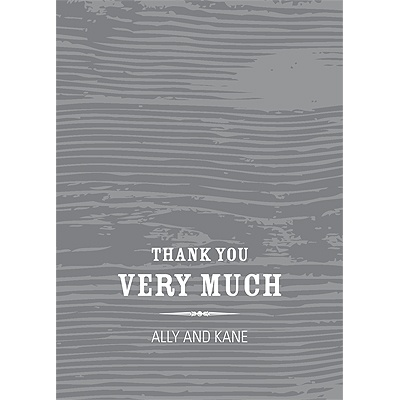 Engraved Memories -- Wedding Thank You Card