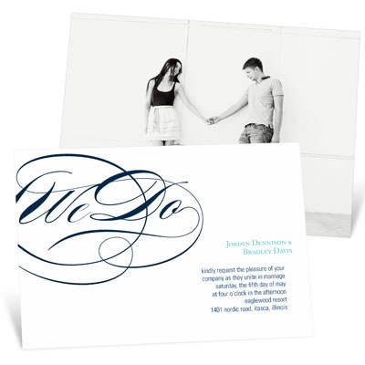 Flowing Embrace Wedding Invitations