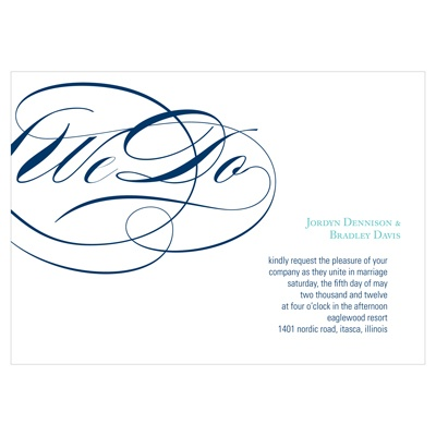 Flowing Embrace Elegant Wedding Invitation