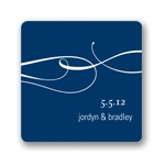 Flowing Embrace -- Wedding Favor Stickers