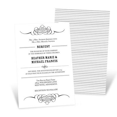 Elegant Edging Unique Wedding Invitations