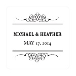 Elegant Edging -- Wedding Favor Stickers