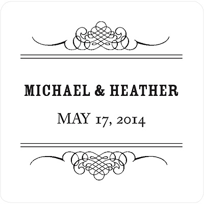 Elegant Edging Wedding Favor Stickers