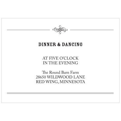 Elegant Edging -- Wedding Reception Cards