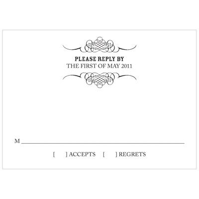 Elegant Edging Wedding Response Cards