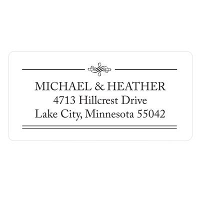 Elegant Edging Wedding Address Label