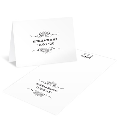 Elegant Edging Wedding Thank You Cards