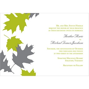 Turning Leaves -- Fall Wedding Invitation