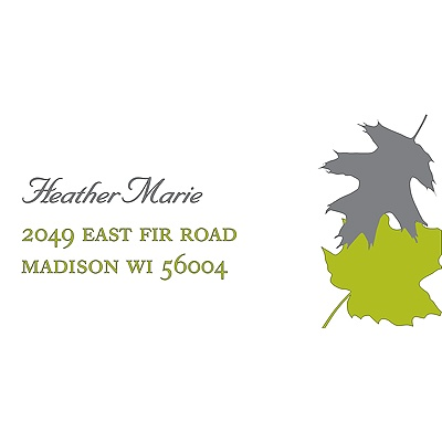 Turning Leaves Wedding Address Label