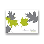 Turning Leaves -- Wedding Thank You Card