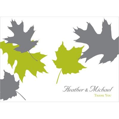 Turning Leaves Wedding Thank You Card